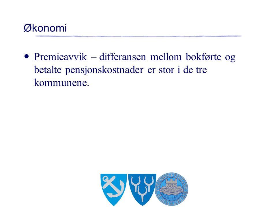 Økonomi Premieavvik – differansen mellom bokførte og betalte pensjonskostnader er stor i de tre kommunene.