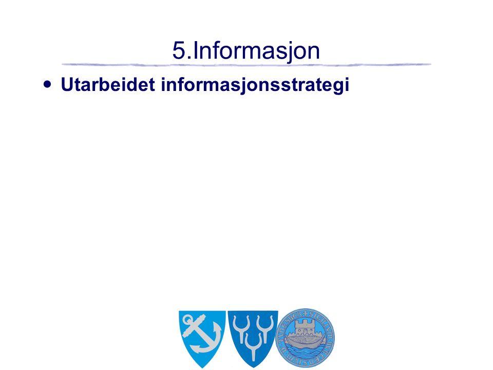 5.Informasjon Utarbeidet informasjonsstrategi