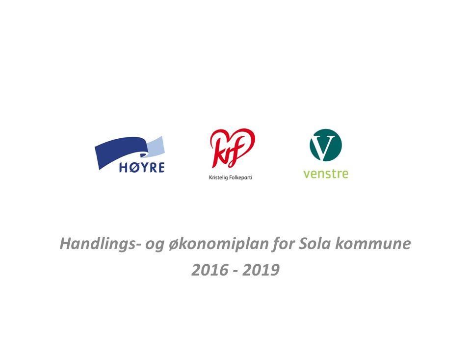Handlings- og økonomiplan for Sola kommune 2016 - 2019