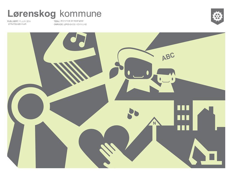 Lørenskog kommune PUBLISERT: OMRÅDE: TEMA: Økonomiske rammebetingelser LØRENSKOG KOMMUNE 11.JUNI 2014 STRATEGISEMINAR