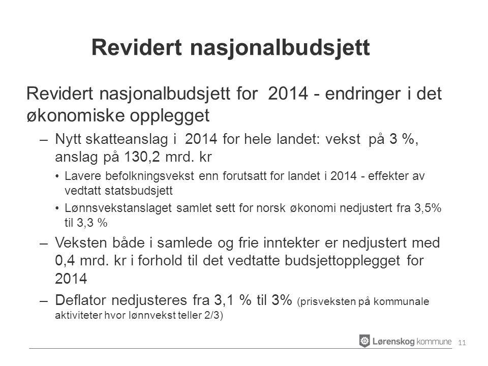 Revidert nasjonalbudsjett for 2014 - endringer i det økonomiske opplegget –Nytt skatteanslag i 2014 for hele landet: vekst på 3 %, anslag på 130,2 mrd.