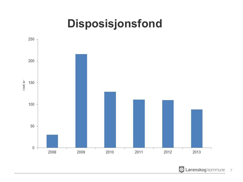 Brutto driftsutgifter til administrasjon og styring i % av brutto driftsutgifter 8