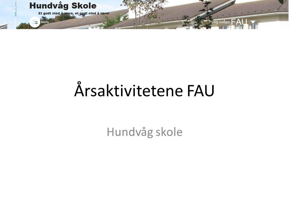 Årsaktivitetene FAU Hundvåg skole