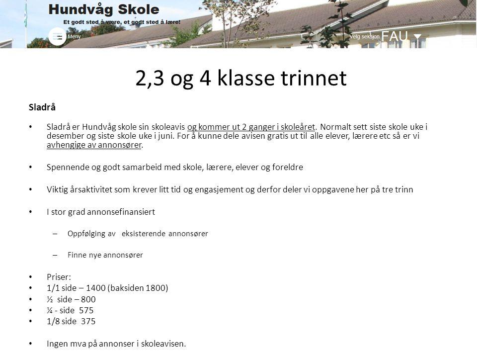 2,3 og 4 klasse trinnet Sladrå Sladrå er Hundvåg skole sin skoleavis og kommer ut 2 ganger i skoleåret. Normalt sett siste skole uke i desember og sis