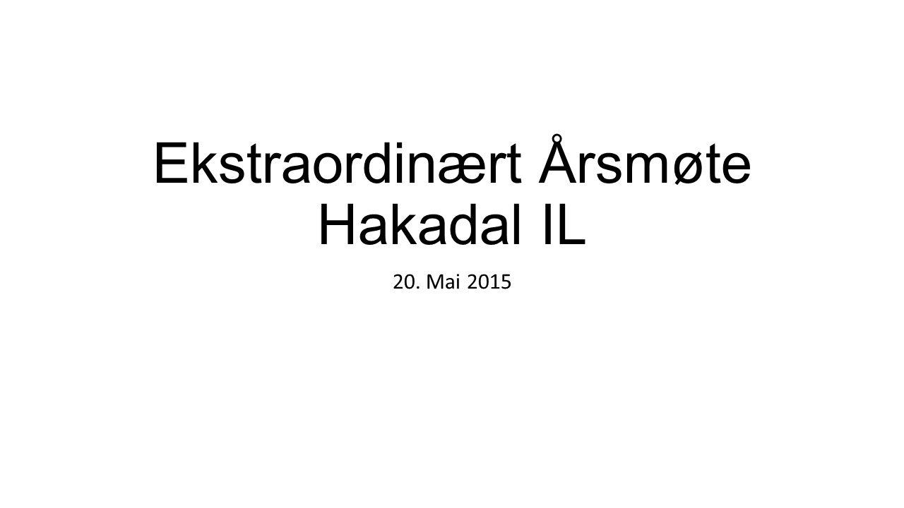 Ekstraordinært Årsmøte Hakadal IL 20. Mai 2015