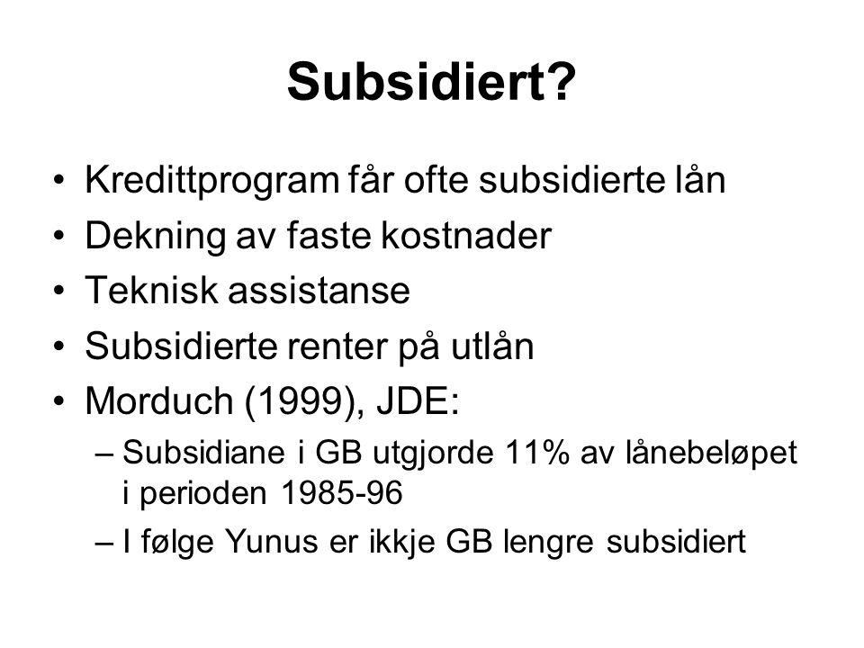 Subsidiert.