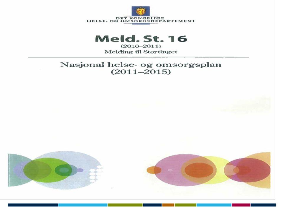 Nasjonal helse- og omsorgsplan (2011-2015) Stortinget legger kursen for helse- og omsorgstjenestene de neste 4 årene.