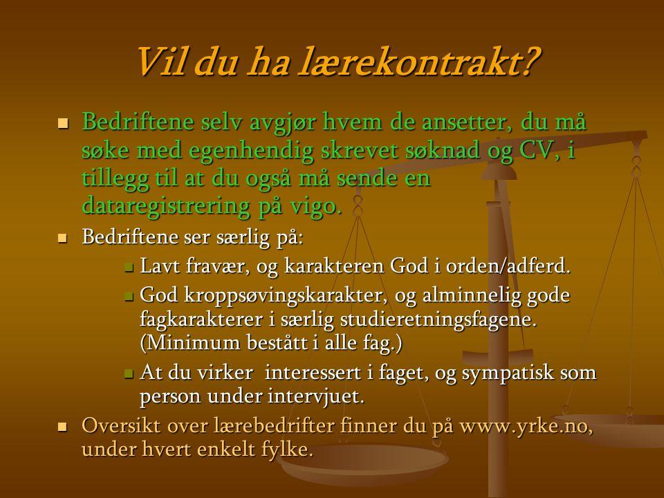 LÆREPLASSER/ LÆREBEDRIFTER. Svært GODE muligheter for LÆREPLASSER i vårt nærområde!.