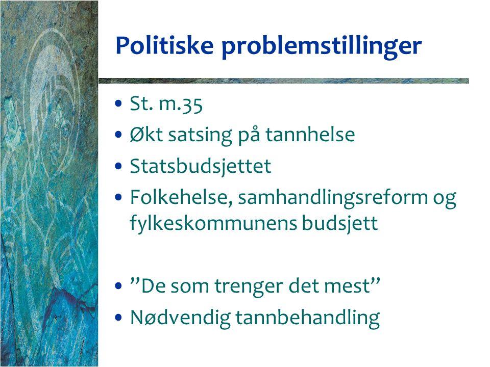 Politiske problemstillinger St.