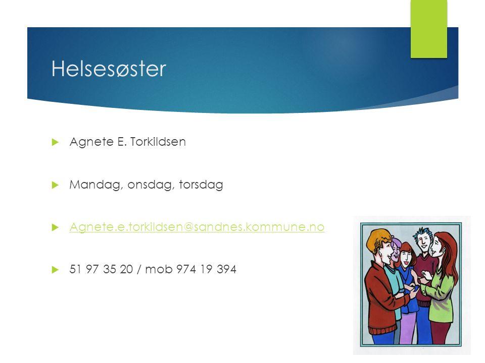 Helsesøster  Agnete E.