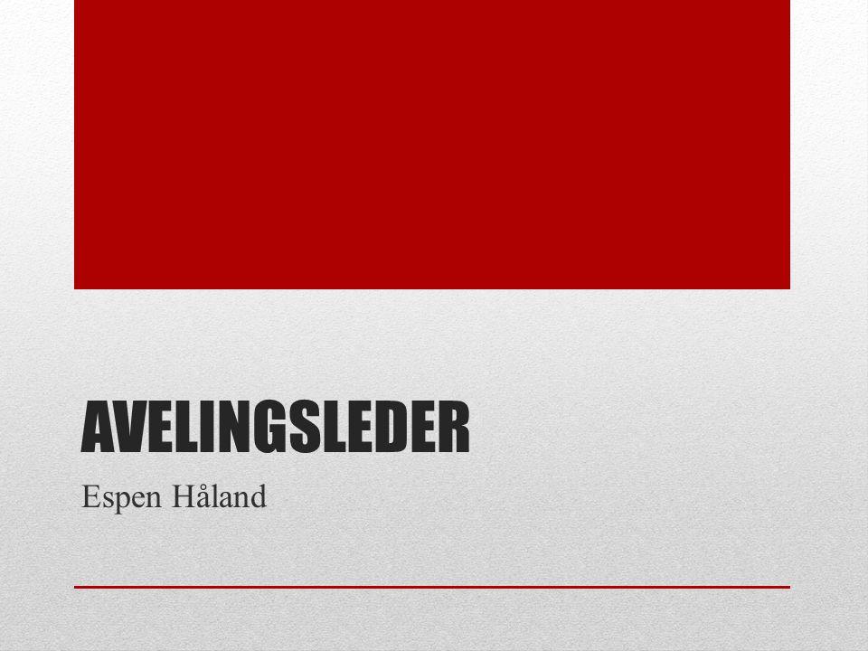 AVELINGSLEDER Espen Håland