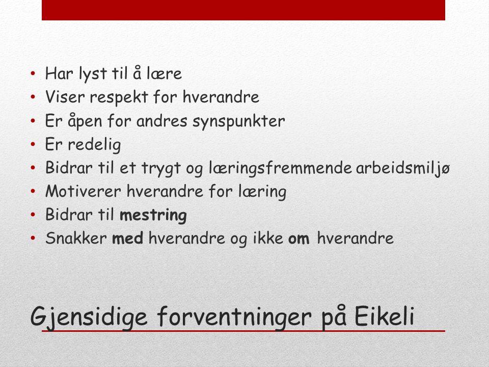 Ny logo Konkurranse om ny logo på Eikeli vgs.