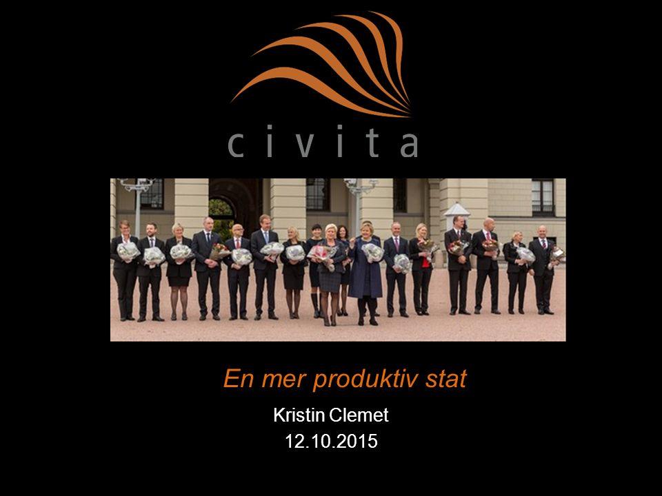En mer produktiv stat Kristin Clemet 12.10.2015