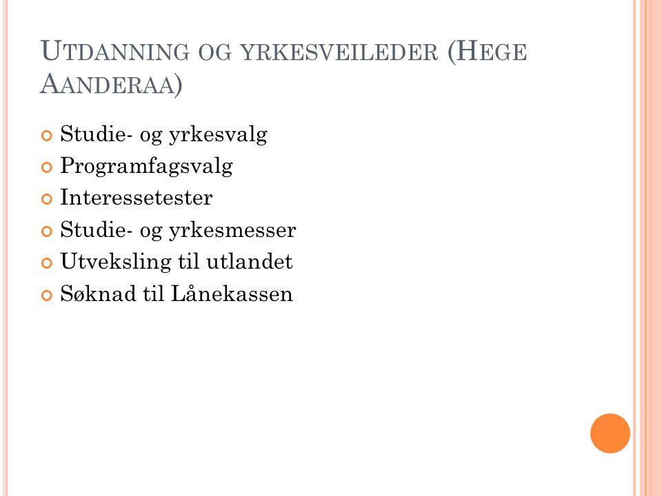 S OSIALPEDAGOGISK RÅDGIVER (K RISTINE S TEIRO ) Faglige og personlige vansker.