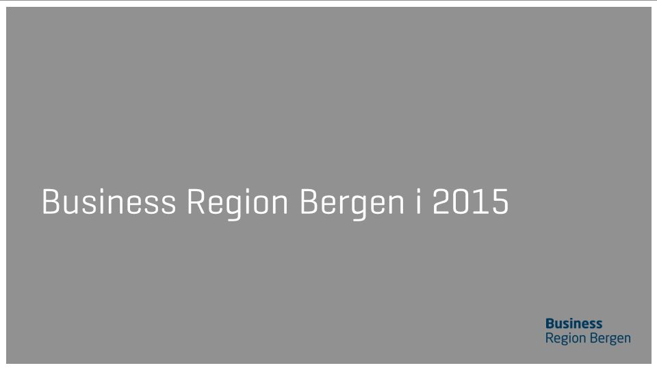Business Region Bergen i 2015