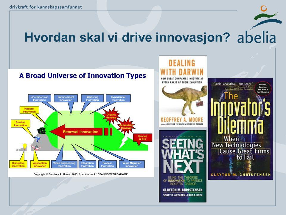 Hvordan skal vi drive innovasjon?