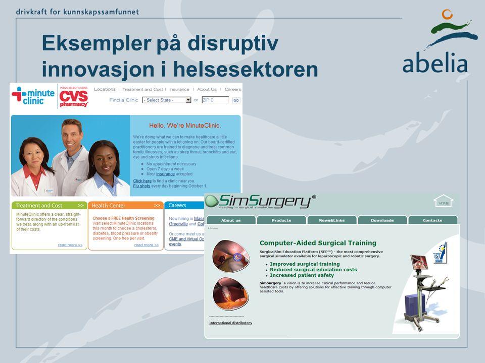 Eksempler på disruptiv innovasjon i helsesektoren
