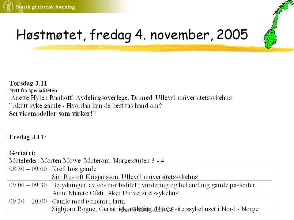 Ger IT 10.01.06 NGF Høstmøtet, fredag 4. november, 2005