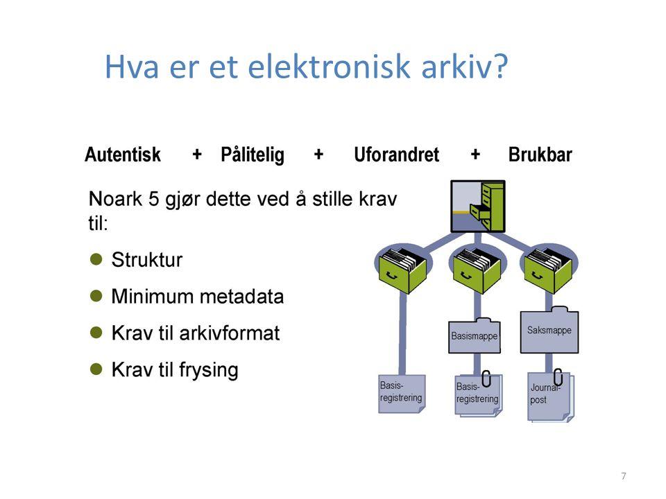 7 Hva er et elektronisk arkiv?