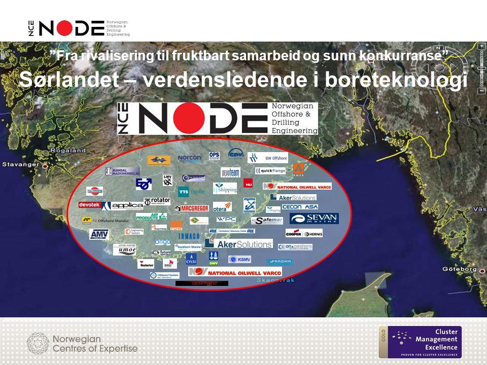 Sørlandet – verdensledende i boreteknologi Fra rivalisering til fruktbart samarbeid og sunn konkurranse