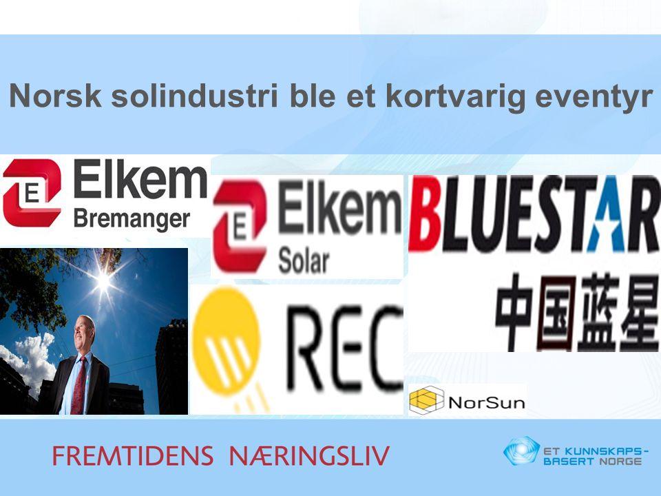 Norsk solindustri ble et kortvarig eventyr