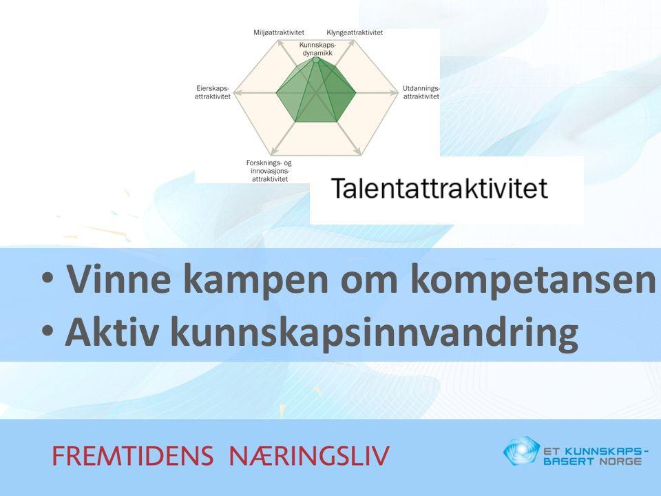 Vinne kampen om kompetansen Aktiv kunnskapsinnvandring