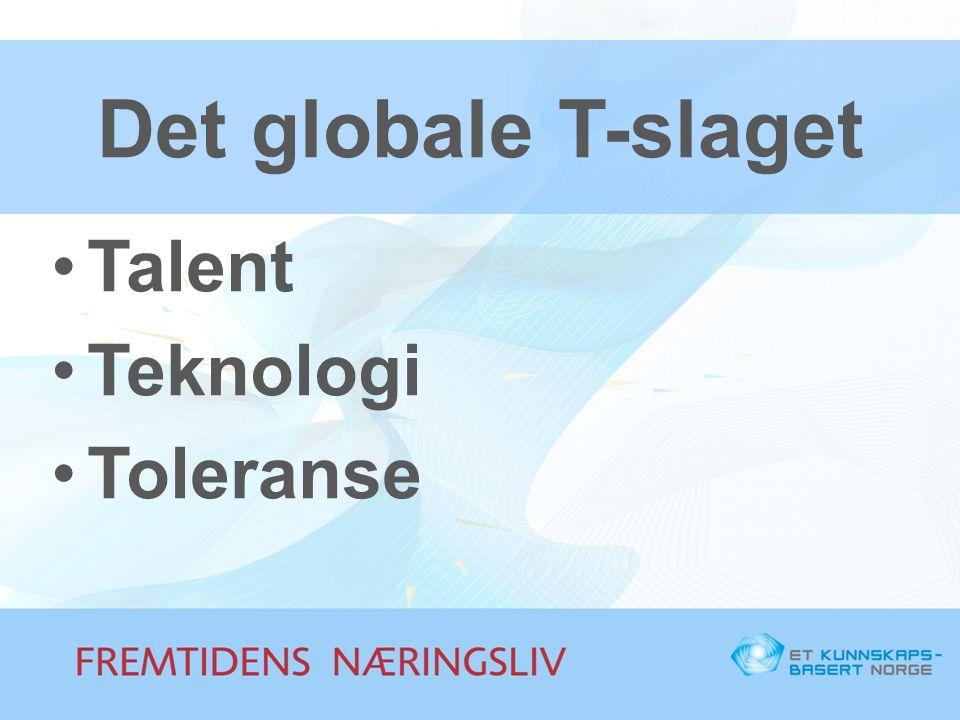 Det globale T-slaget Talent Teknologi Toleranse