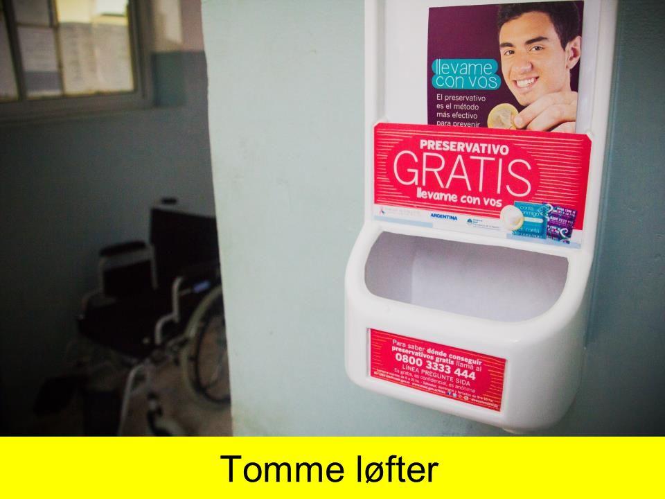 Tomme løfter