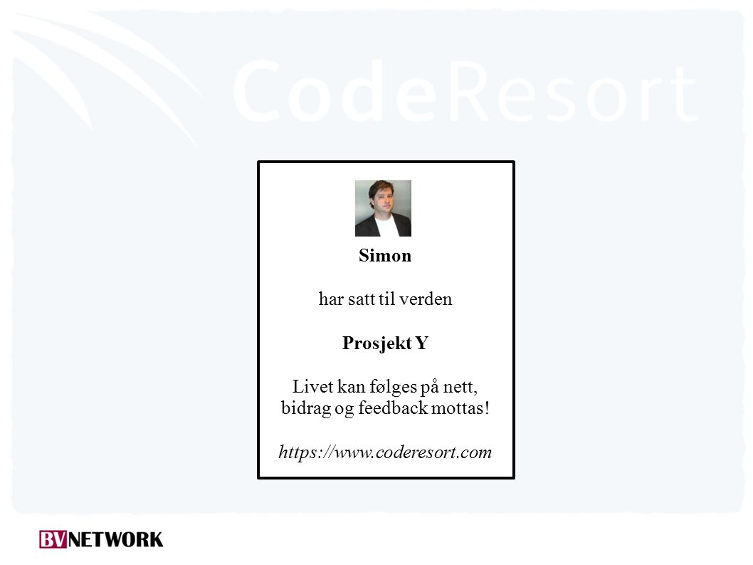 Simon har satt til verden Prosjekt Y Livet kan følges på nett, bidrag og feedback mottas.