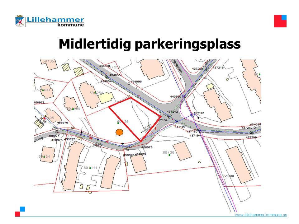 www.lillehammer.kommune.no Midlertidig parkeringsplass