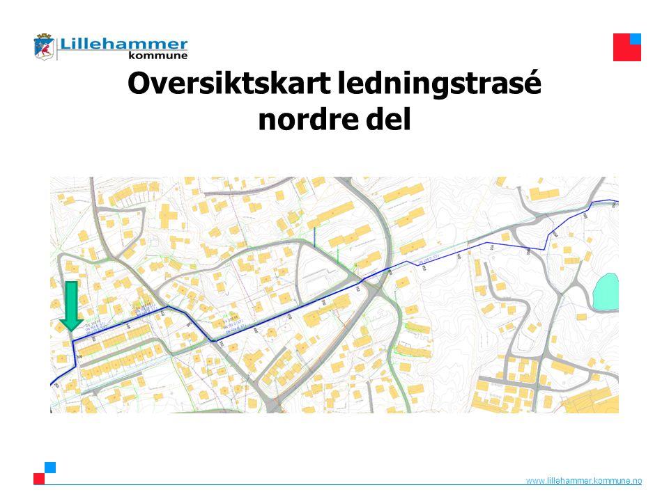 www.lillehammer.kommune.no Oversiktskart ledningstrasé nordre del