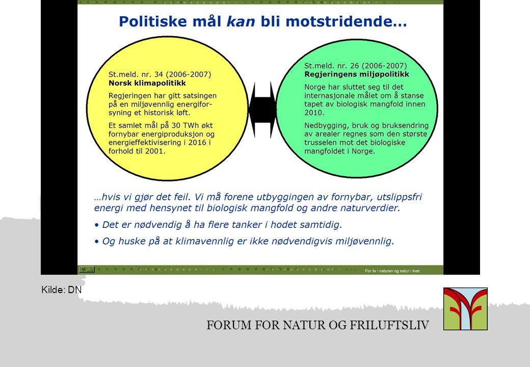 FORUM FOR NATUR OG FRILUFTSLIV Kilde: DN