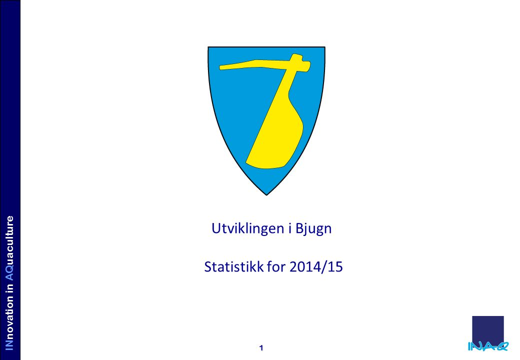 INVE STORS IN AQUACULTURE INnovation in AQuaculture 1 Utviklingen i Bjugn Statistikk for 2014/15