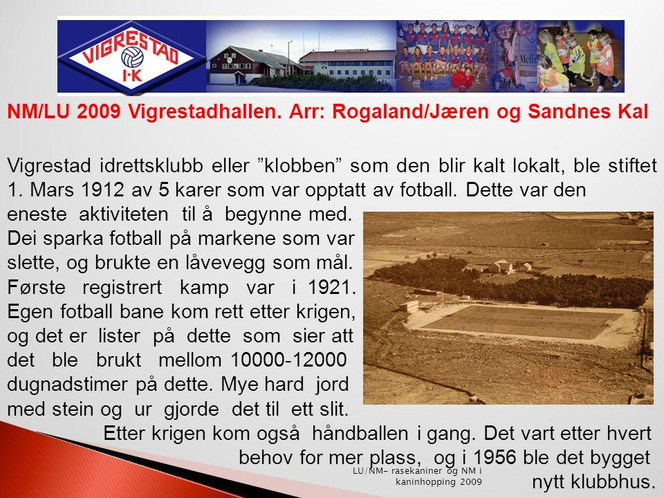 Vigrestad idrettsanlegg anno 1953 NM/LU 2009 Vigrestadhallen.