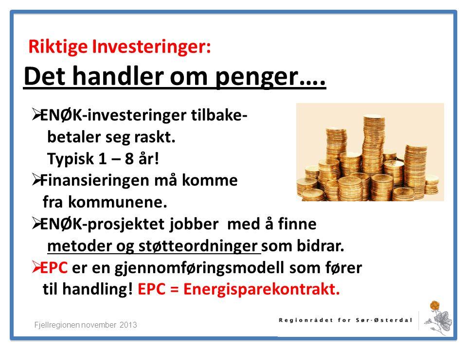 ElverumRegionens NæringsUtvikling Riktige Investeringer: Det handler om penger….