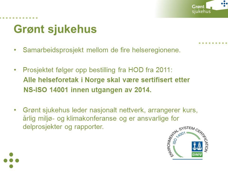 Samarbeidsprosjekt mellom de fire helseregionene.