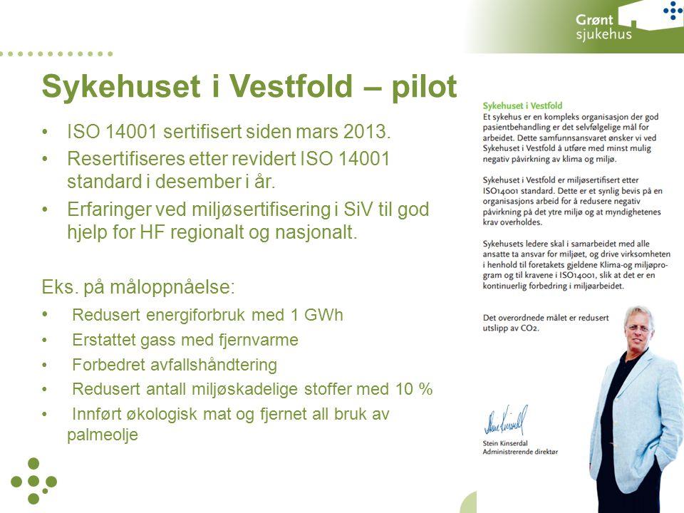 ISO 14001 sertifisert siden mars 2013.