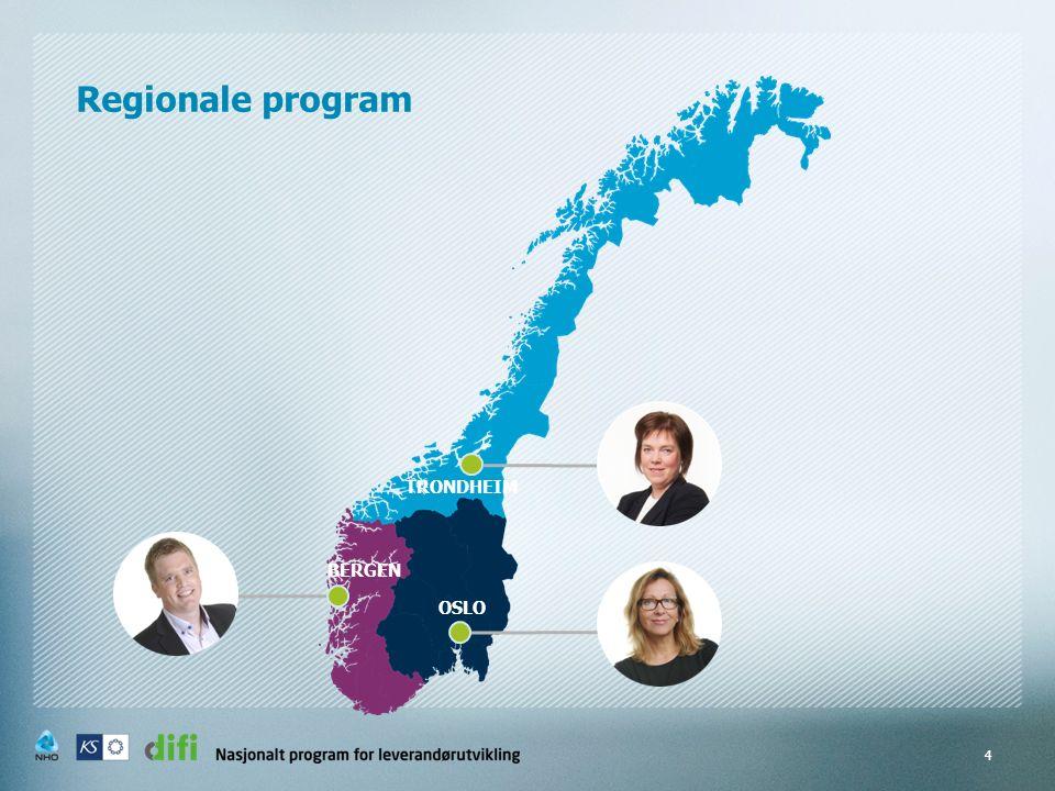 Regionale program 4 OSLO BERGEN TRONDHEIM