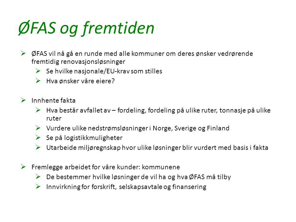ØFAS og fremtiden  ØFAS vil nå gå en runde med alle kommuner om deres ønsker vedrørende fremtidig renovasjonsløsninger  Se hvilke nasjonale/EU-krav