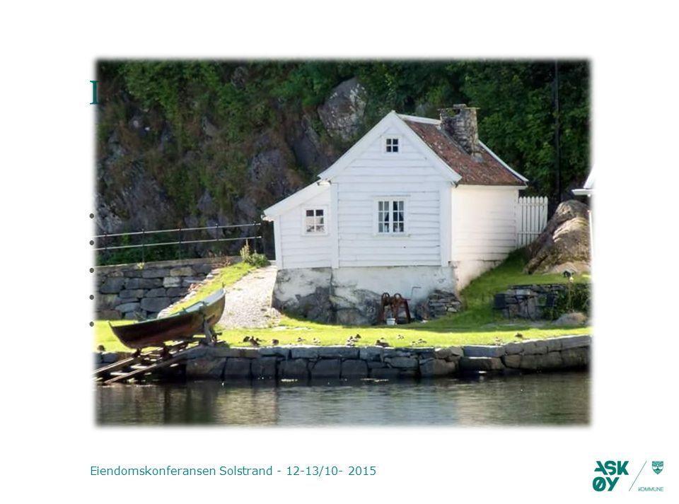 Disposisjon Eiendomskonferansen Solstrand - 12-13/10- 2015 Litt om Askøy kommune Innføring av selvkost på oppmålingstjenesten Hvordan vi har gjort det Våre erfaringer Oppfølging