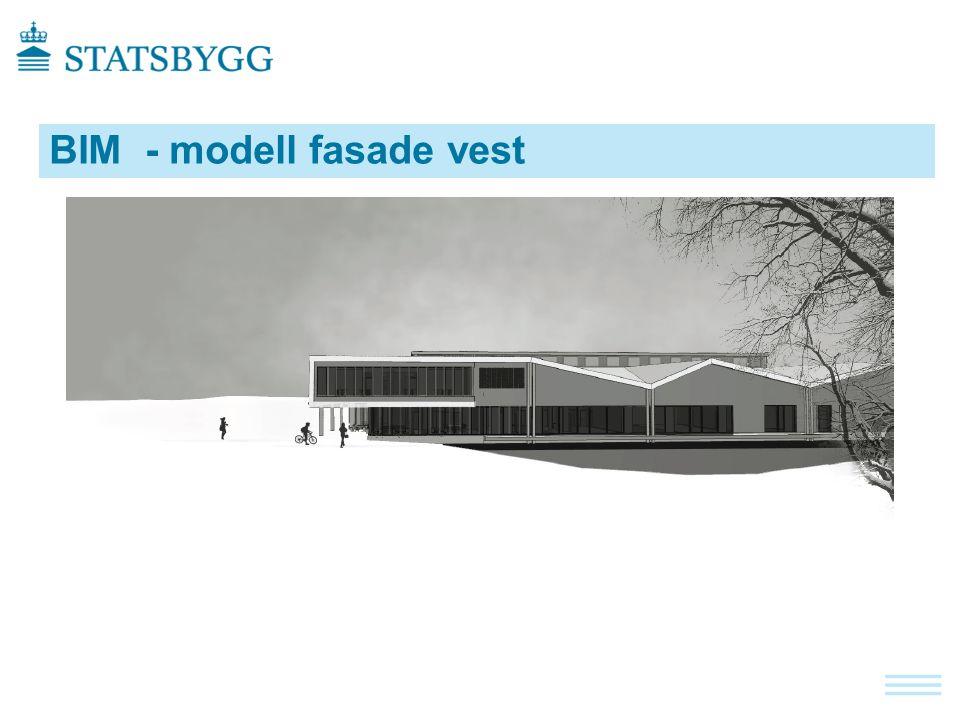 BIM - modell fasade vest