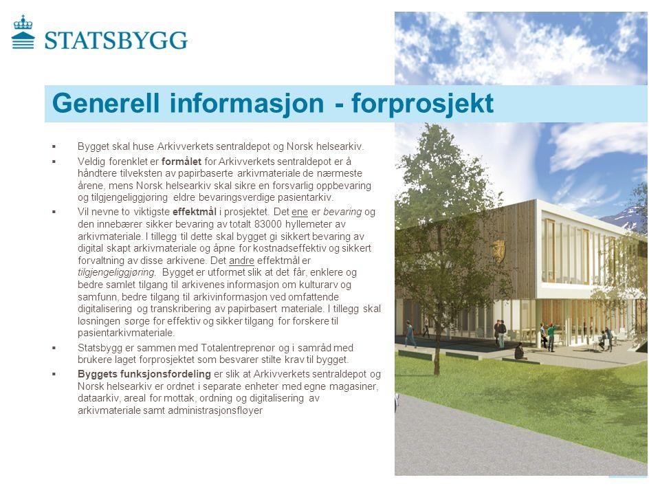  Bygget skal huse Arkivverkets sentraldepot og Norsk helsearkiv.