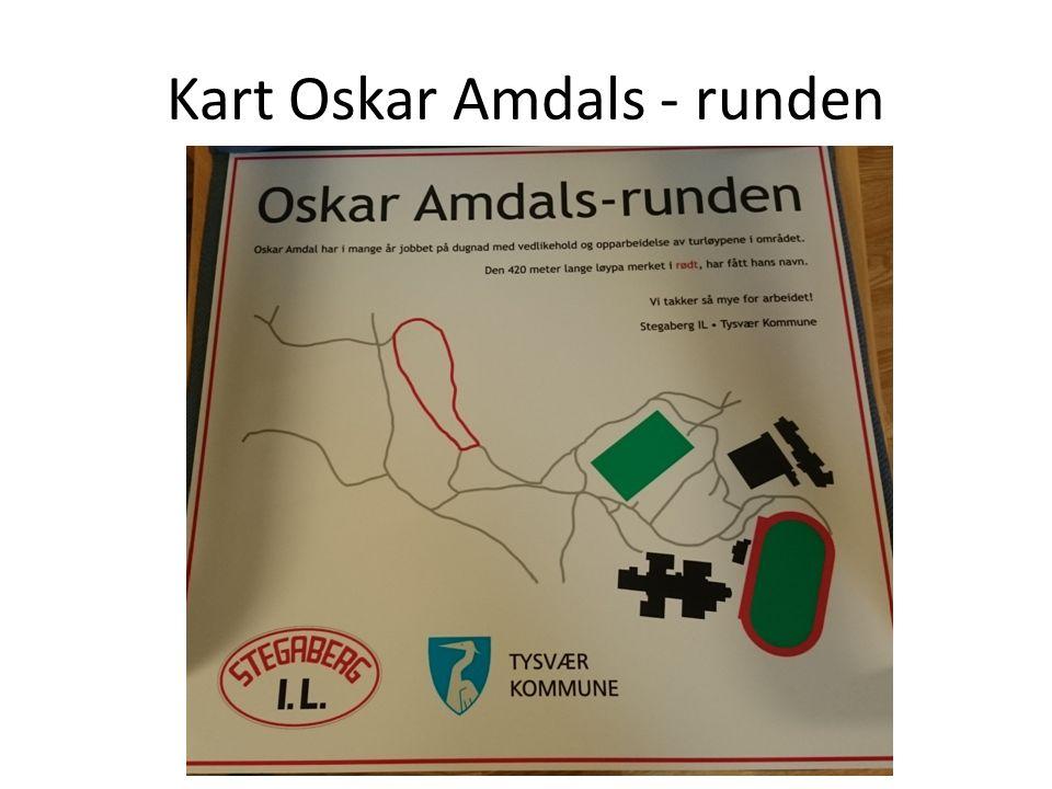 Kart Oskar Amdals - runden