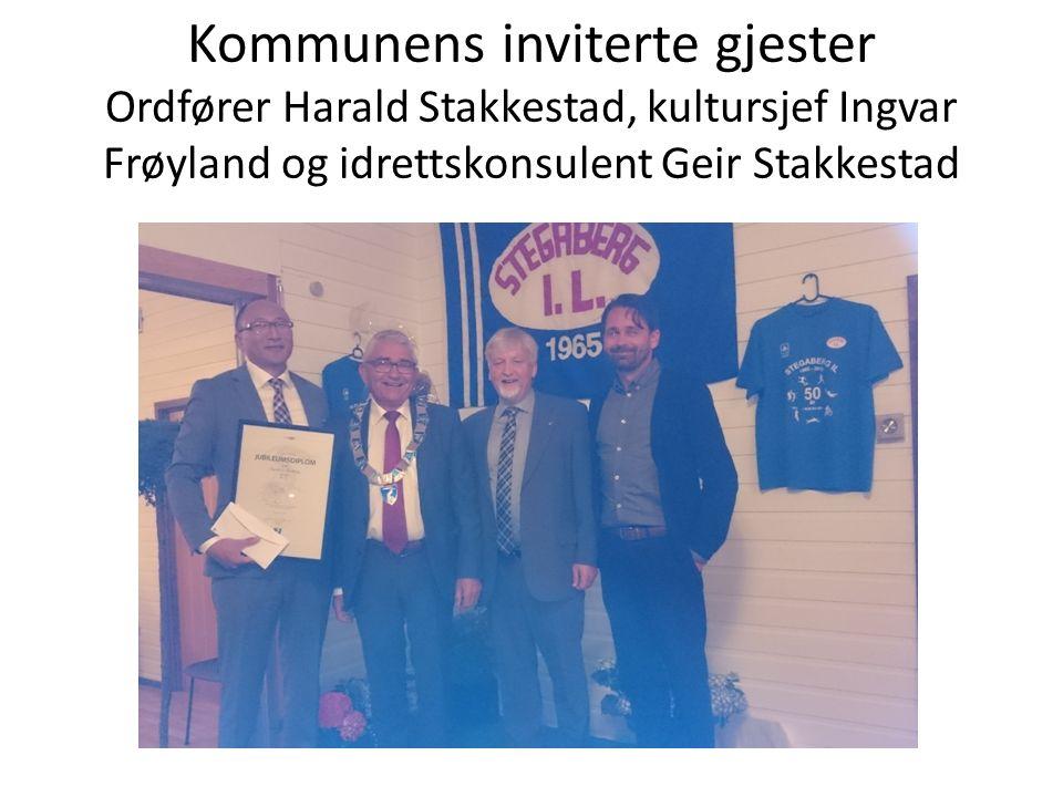 Kommunens inviterte gjester Ordfører Harald Stakkestad, kultursjef Ingvar Frøyland og idrettskonsulent Geir Stakkestad