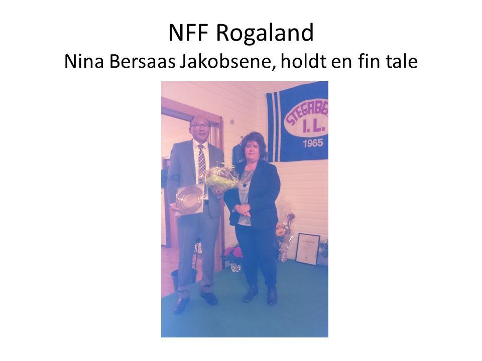 NFF Rogaland Nina Bersaas Jakobsene, holdt en fin tale