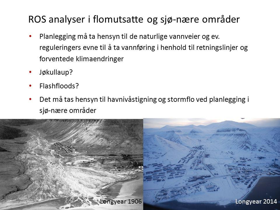 ROS analyser i flomutsatte og sjø-nære områder Planlegging må ta hensyn til de naturlige vannveier og ev.