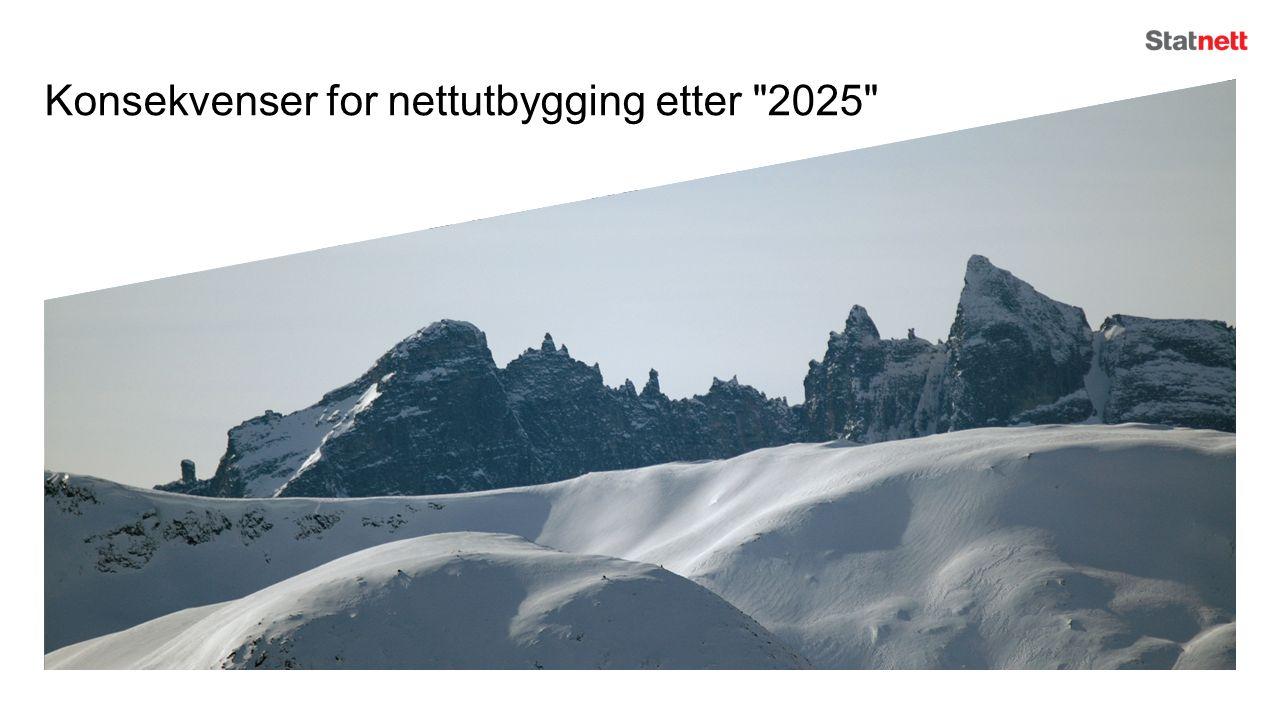 Konsekvenser for nettutbygging etter 2025