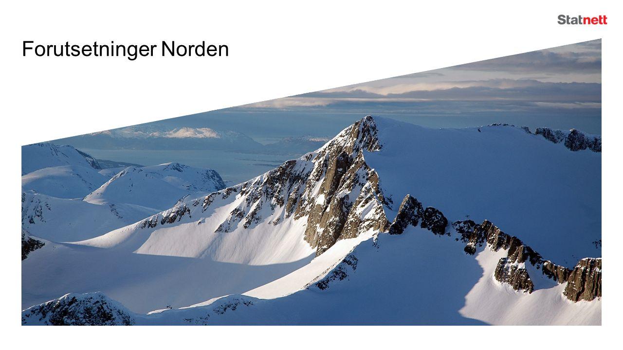 Vi forventer forbruksvekst i Norden Samlet nordisk forbruksvekst på 50 TWh fra i dag til 2040 Elbiler – 25 TWh i basis 2040 Industri, petroleumsrelatert virksomhet og datalagring El i varmesektoren Energieffektivisering i bygg og industri ikke nok for å utligne vekst