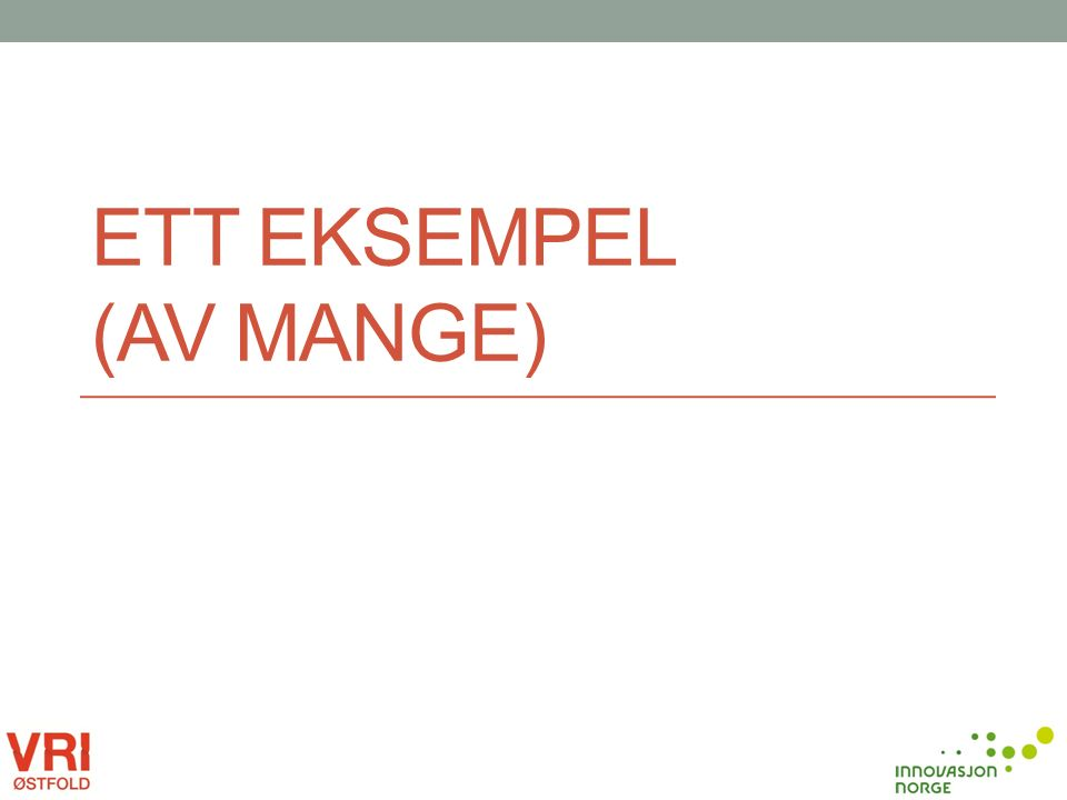 ETT EKSEMPEL (AV MANGE)