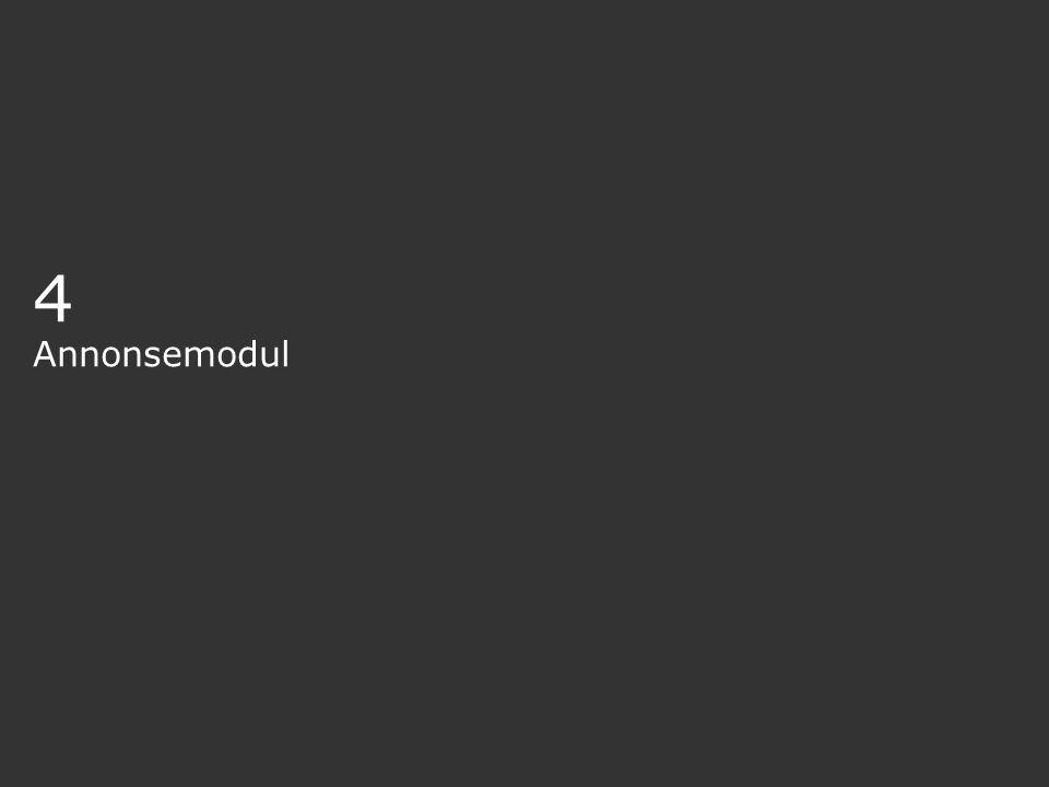 4 Annonsemodul